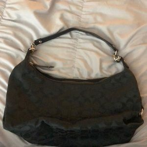 Like new black coach purse